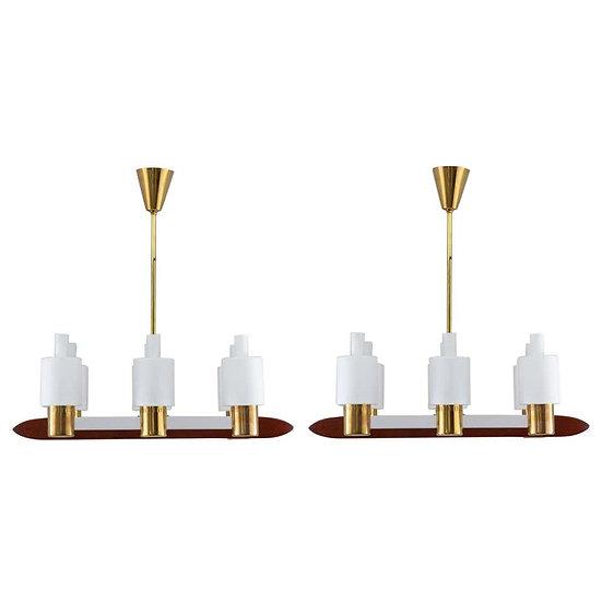 Midcentury Ceiling Lamps by Jo Hammerborg for Fog & Mørup, Denmark