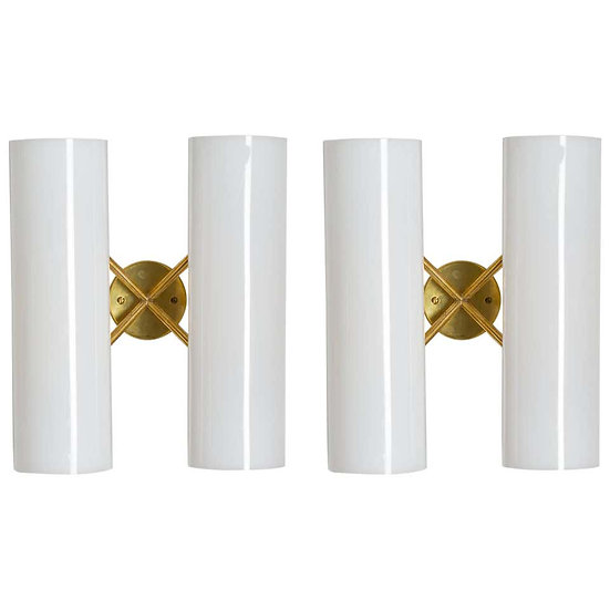 Pair of Swedish Midcentury Wall Lamps by Hans Bergström for Ateljé Lyktan