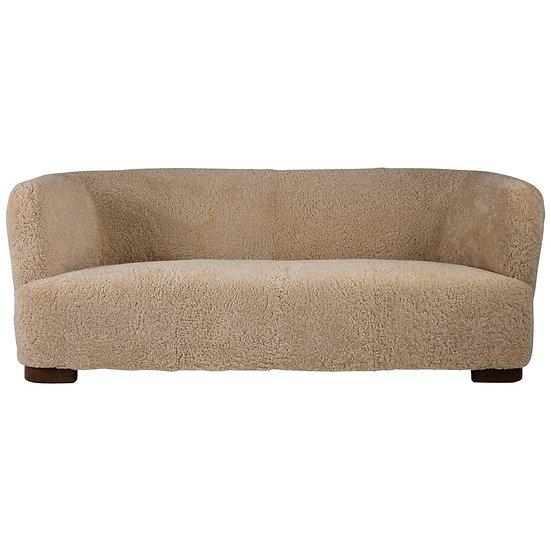 Flemming Lassen Style Sheepskin Sofa 1930s, Denmark