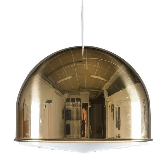 Large Pendant T-75 in Brass by Eje Ahlgren for Bergboms