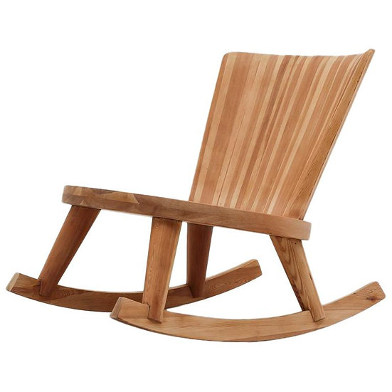 Swedish Rocking Chair in Pine, 1940s