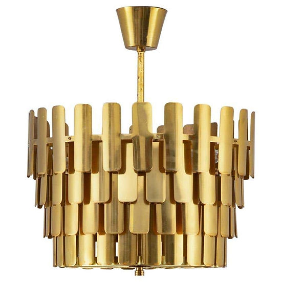 Swedish Midcentury Pendant in Brass by Konsthantverk Tyringe, 1960s