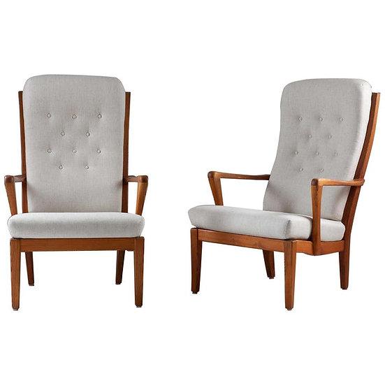 Pair of Scandinavian Midcentury Lounge Chairs by Carl Malmsten