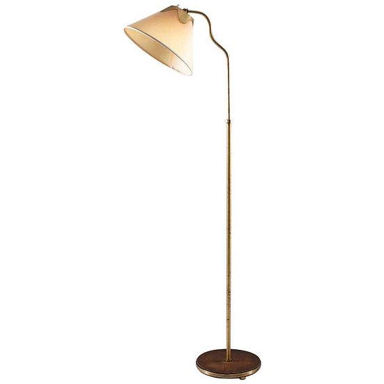 Swedish Modern Floor Lamp in Brass, 1940s