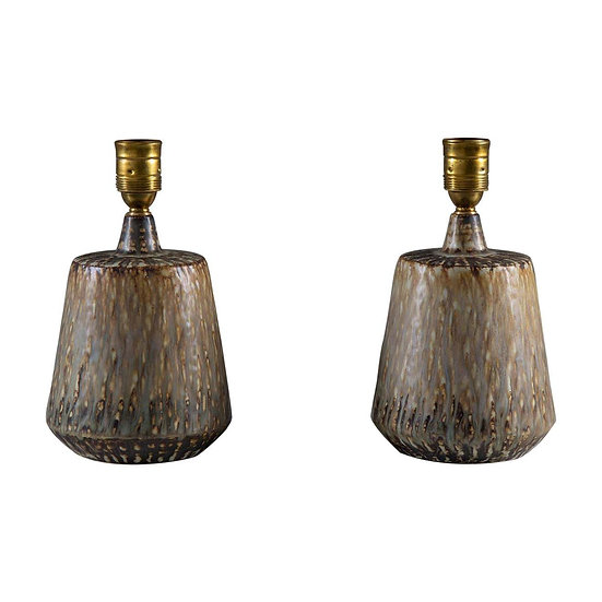 Swedish Midcentury Ceramic Table Lamps by Gunnar Nylund