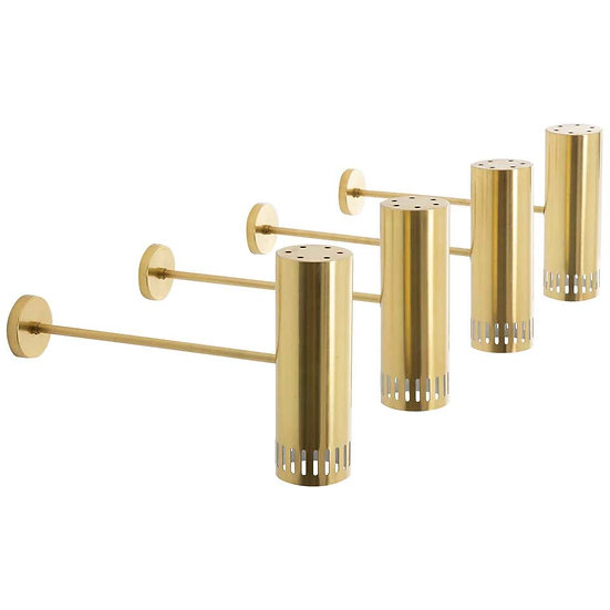 Large Midcentury Scandinavian Brass Wall Lamps by Boréns