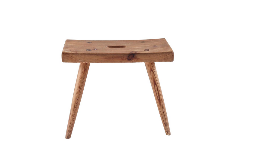 Swedish Stool in Pine, 1940s