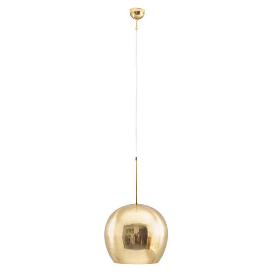 Large Midcentury Scandinavian Pendant in Brass