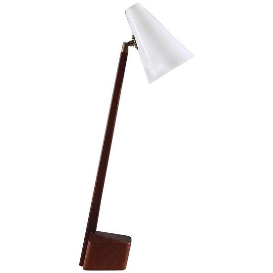 Swedish Midcentury Table Lamp in Acrylic and Teak, 1950s