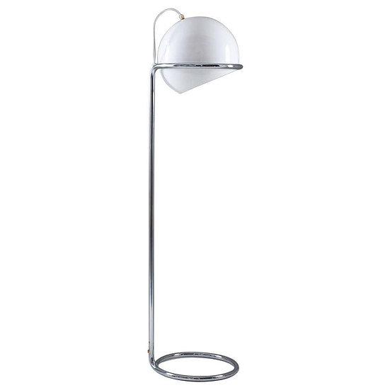 Scandinavian Midcentury Floor Lamp in Chrome and Acrylic by Bergboms