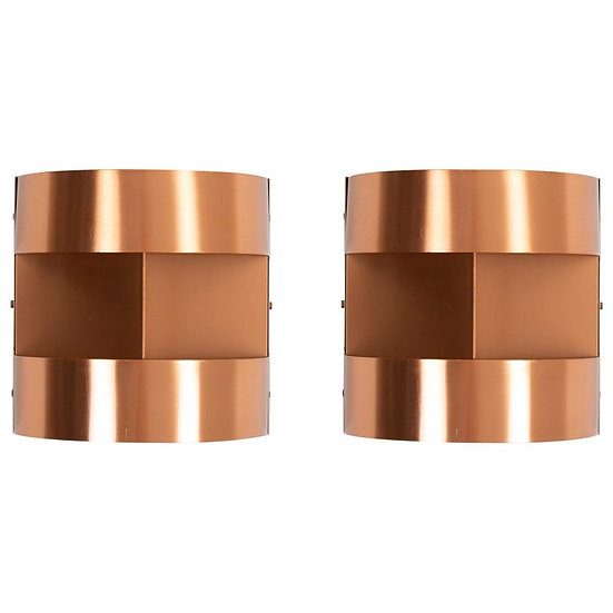Swedish Mid Century Wall Lamps / Sconces in Copper