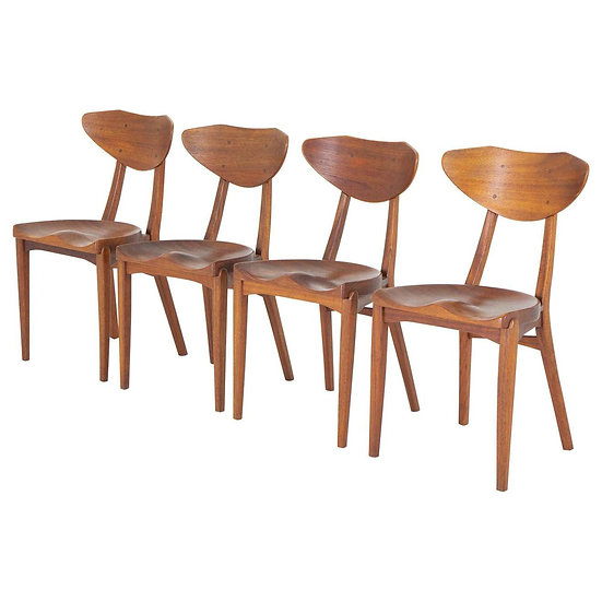 Set of Four Dining Chairs by Richard Jensen and Kjaerulff Rasmussen