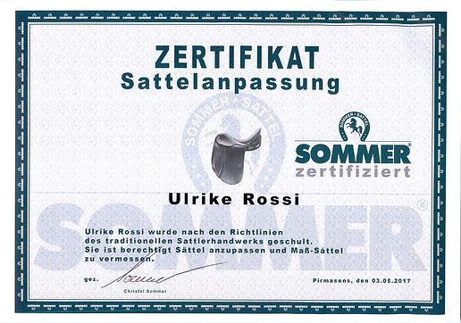 Zertifitkat, Sommer Sattel, Sattler