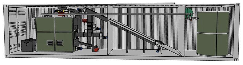 kotłownia kontenerowa - schemat