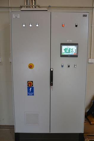 Kotły na biomasę - szafa sterowania