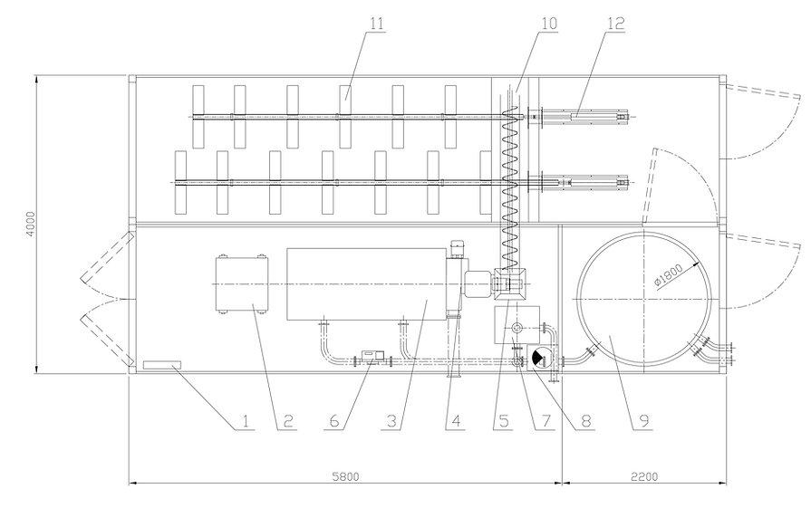 Schemat kotłownia kontenerowa - Granpal Medium