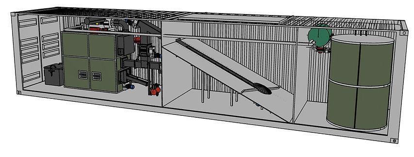 Schemat 3D kotłownia kontenerowa - Granpal Medium