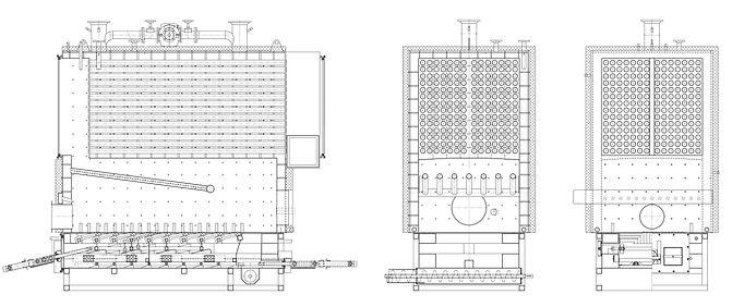 kotły na pellet - schemat 3 MW