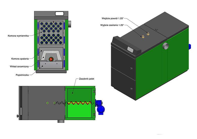 Kocioł na pellet - Granpal Eco - budowa