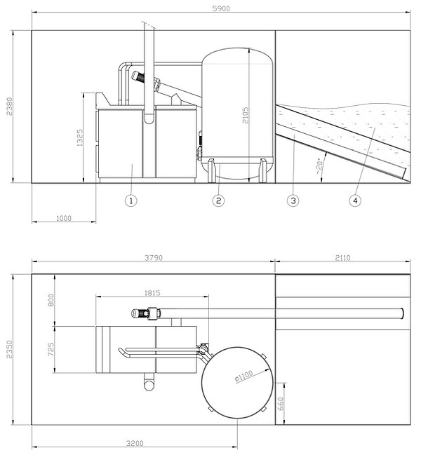 Schemat kotłownia kontenerowa - Granpal Eco