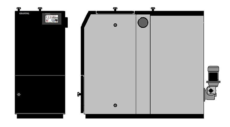 Kotły na pellet - Granpal Eco 2P - schemat