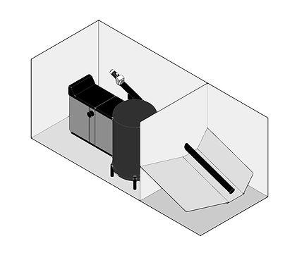 Schemat 3D kotłownia kontenerowa - Granpal Eco