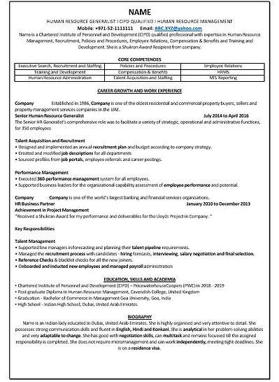 Professional CV Design sample 3