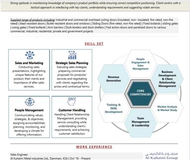 Core Competency in a CV Format