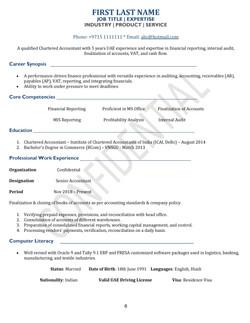 Standard Simple CV