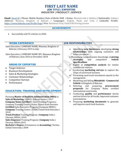 One Page Split Compact Resume