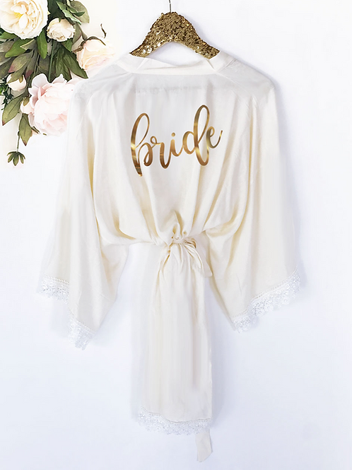 Bridal Party Cotton Lace Robes