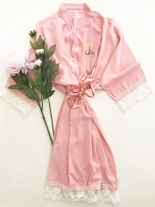 Monogram Cotton Lace Robes