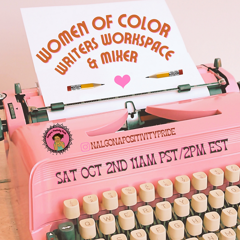 BIPOC Writers' Virtual Workspace + Mixer Oct 2nd