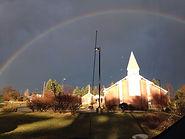 rainbow over church.JPG