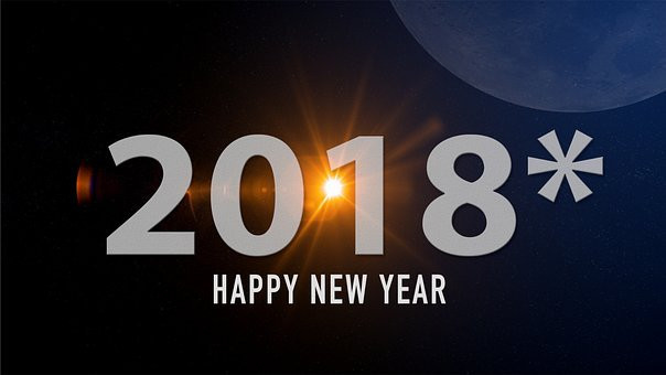 New Year, Greeting, 2018, New Year'S Day