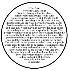 If the Earth were only a few feet in Diameter