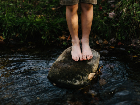 The stepping-stones across the waters of doubt and fear.