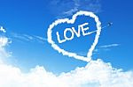 Love heart in sky