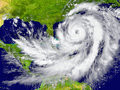 Hurricane between florida and cuba huge elements of this image furnished by nasa Royalty Free Stock Photo
