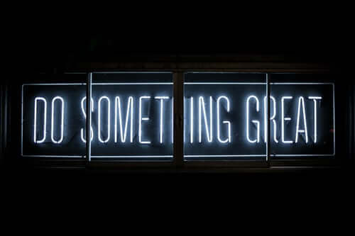 You are free ... to do something great.
