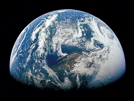 """The astronaut gazed upon the earth and said: """"This could surely change a man""""."""