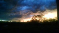 #thunderstorm rolling through tonight #sky #storm #night #sunset #texas  #weather