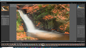 Long exposure image of waterfall in Autumn