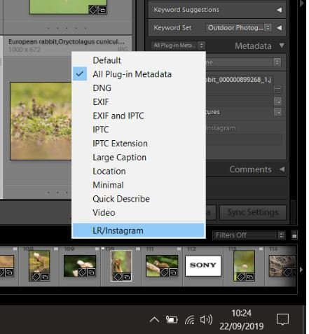instagram plug in hash tag menu for lightroom