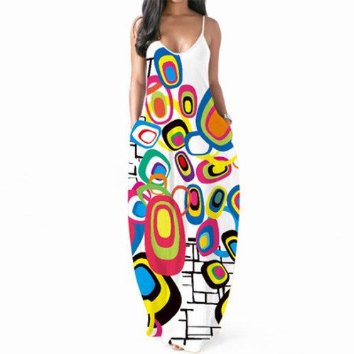 Dresses for Women Casual Summer Spaghetti Strap Sexy V-Neck