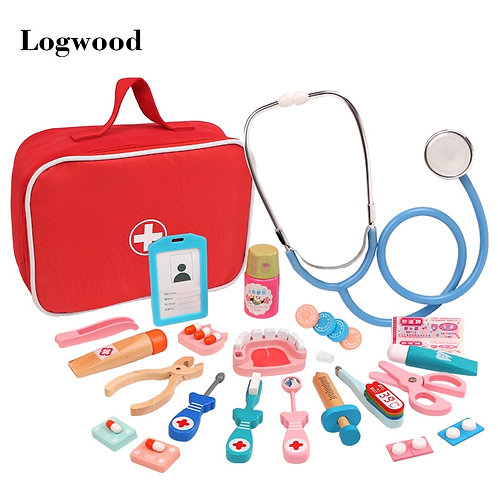 Hot Wooden Children Simulation Doctor Toy  Real Life Injection