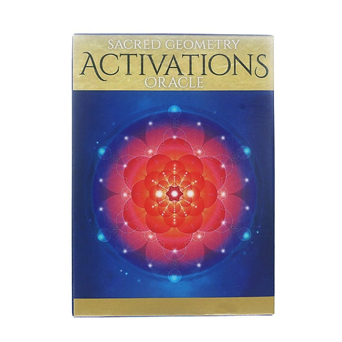 44pcs Tarot Cards Sacred Geometry Activations Oracle Deck