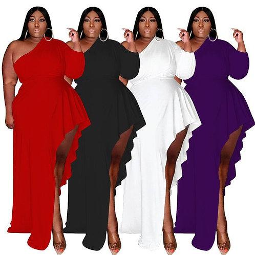 High Quality Plus Size Dress & Skirts Satin Maxi Dress