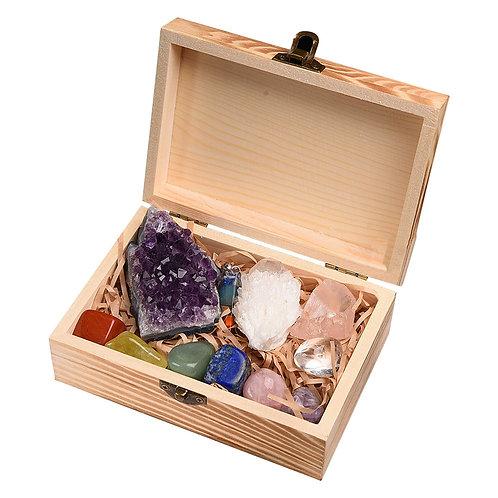 Seven Chakra Natural Healing Crystal Gift Box