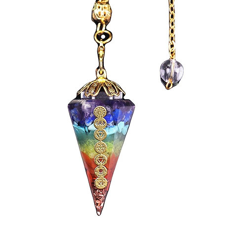 7 Chakra Crystal Healing Pendulum